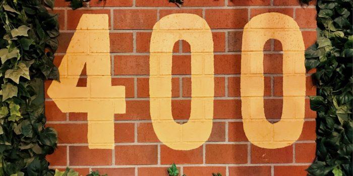 We've Written 400 Of These – Spotlight #400